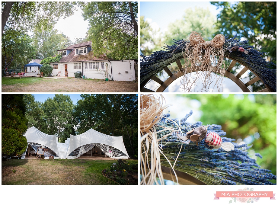 marquee in the garden at wedding photography in hampshire