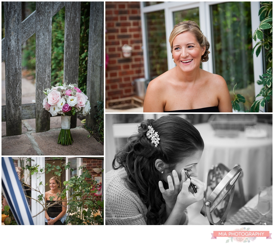 Bride Getting Ready Before Going To Lainstone House In Hampshire