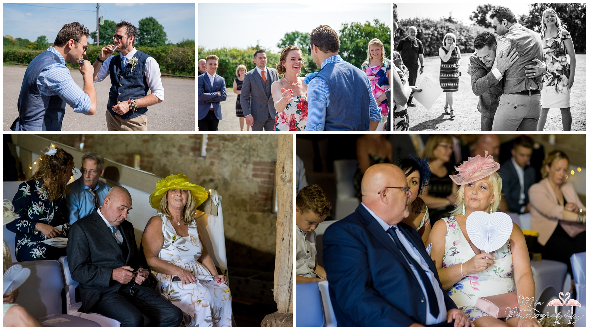 Guests at the great barn at titchfield