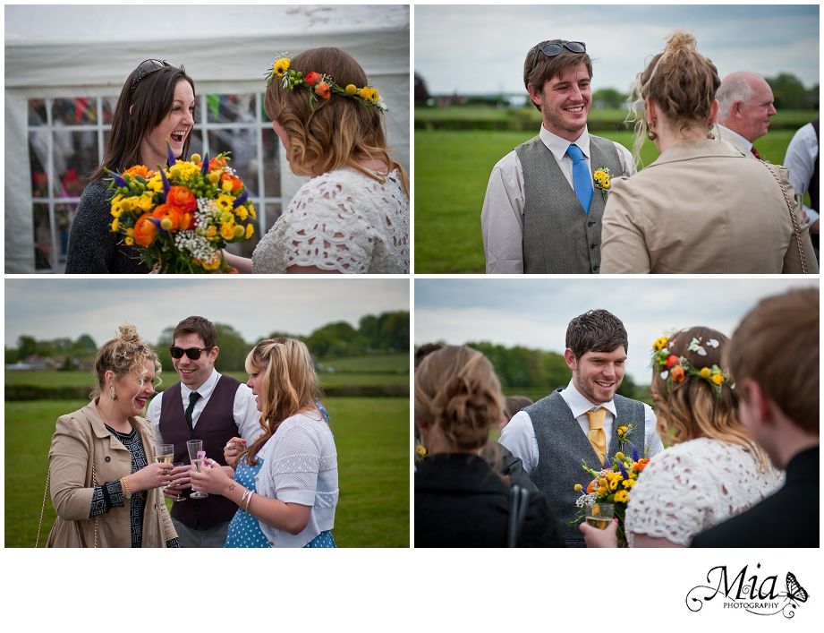 hampshire wedding in a field