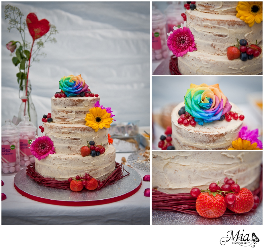naked cake at the farm wedidng
