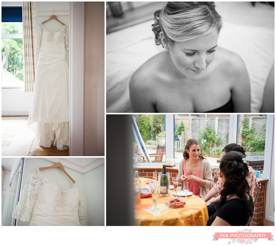 Wedding photographer at brides house in hampshire
