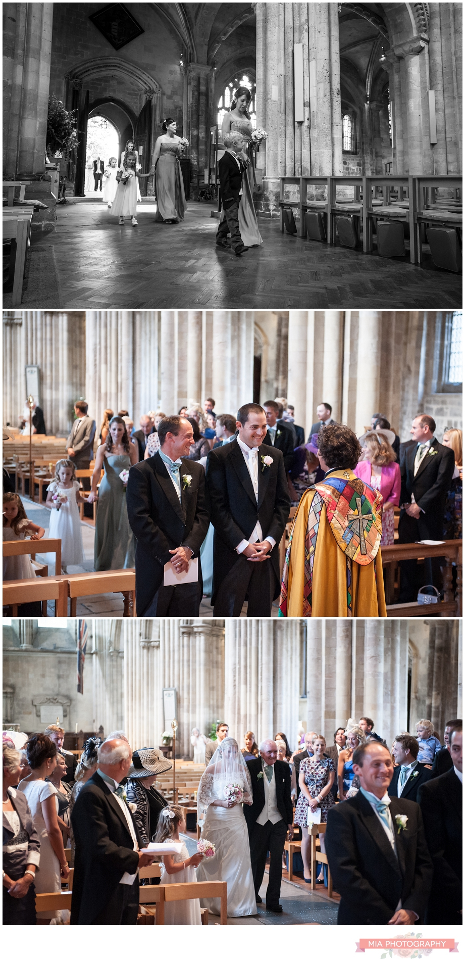 Wedding service at romsey abbey in hampshire