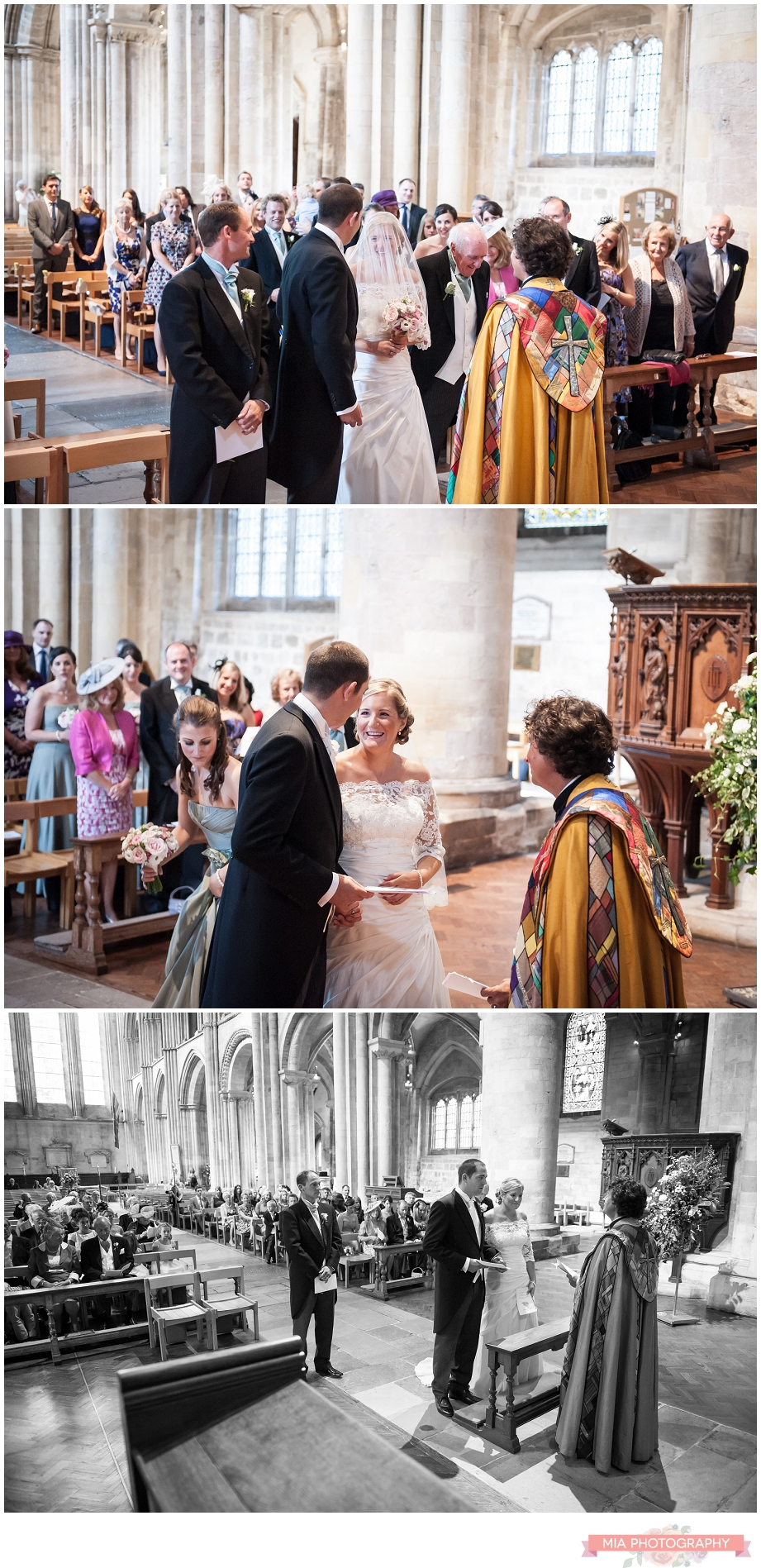 Wedding photography at romsey abbey in hampshire