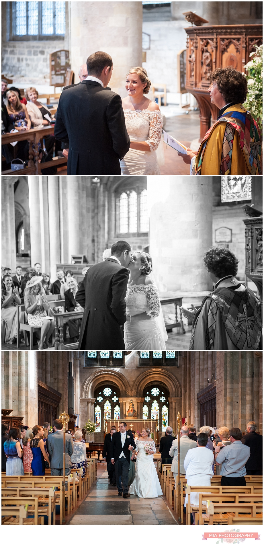 Wedding photography in Romsey Abbey, hampshire