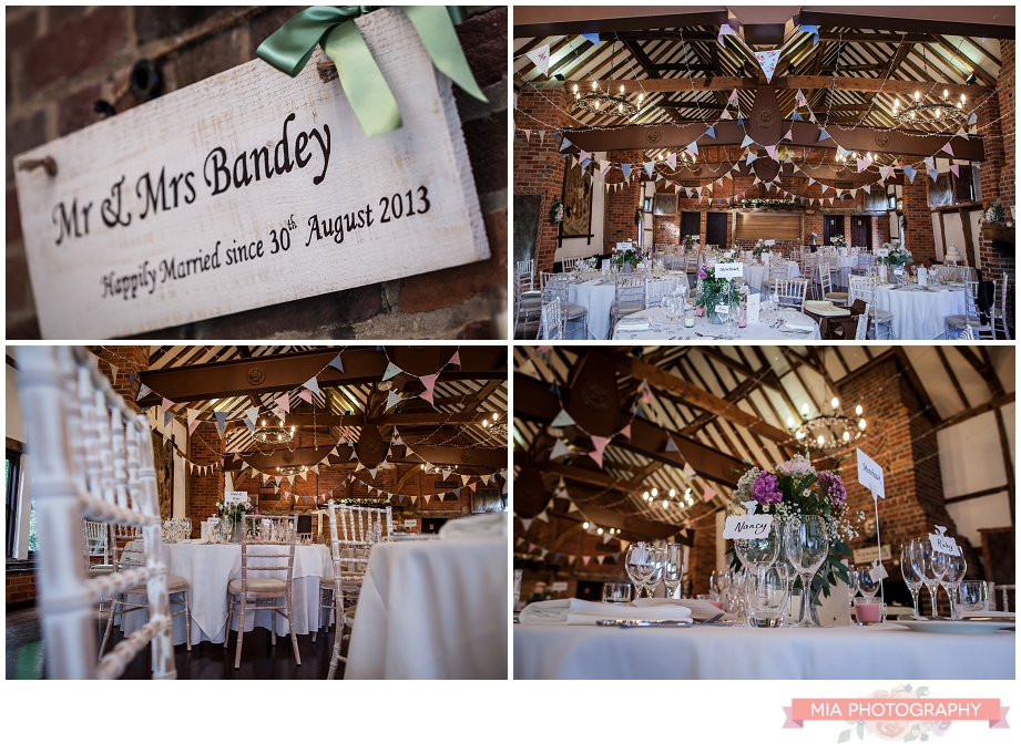 Wedding decor at lainstone house in winchester