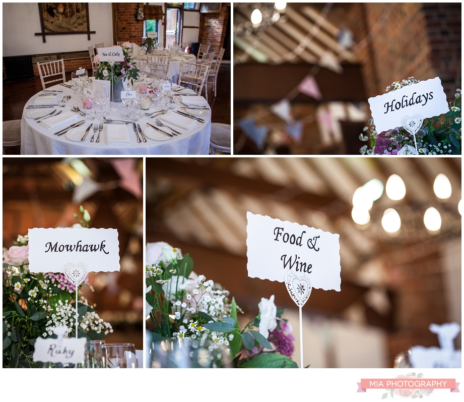 Lainstone house in winchester wedding decor