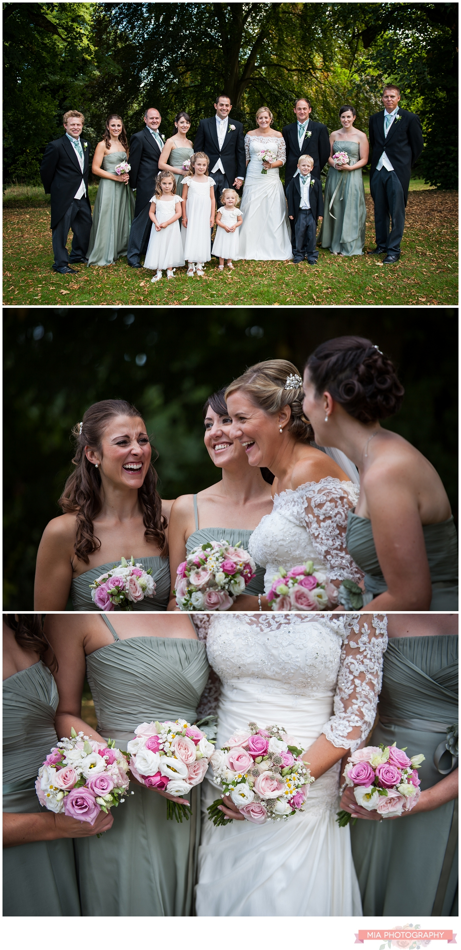 Bridal party wedding photography in hampshire