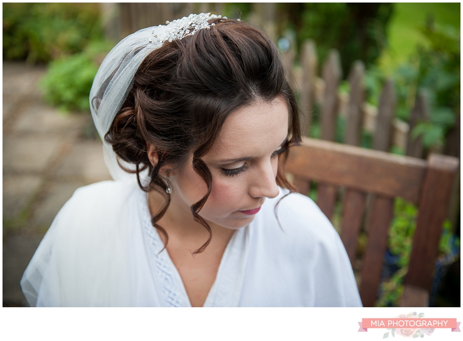 bride with make up done by miriam king