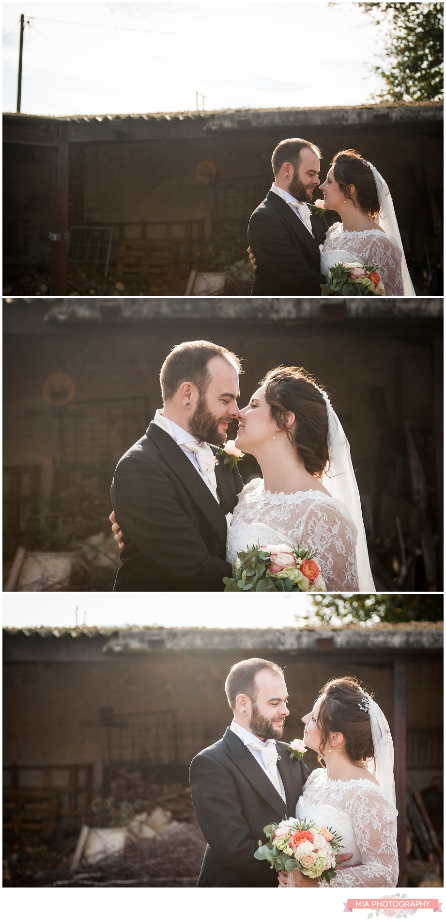 couple at bury court barn posing for their wedding photography