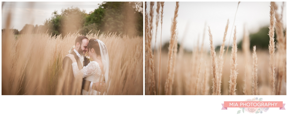cornfield wedding photography in hampshire