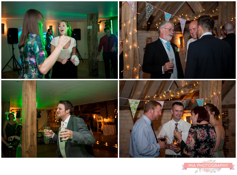 evening party at bury court barn in hampshire