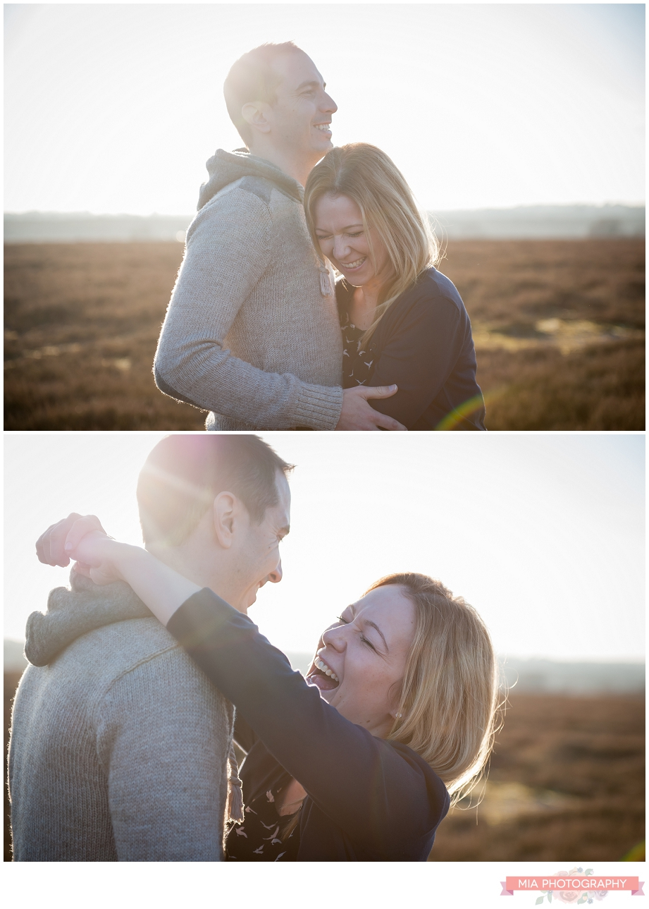 Hampshire sunset engagement shoot