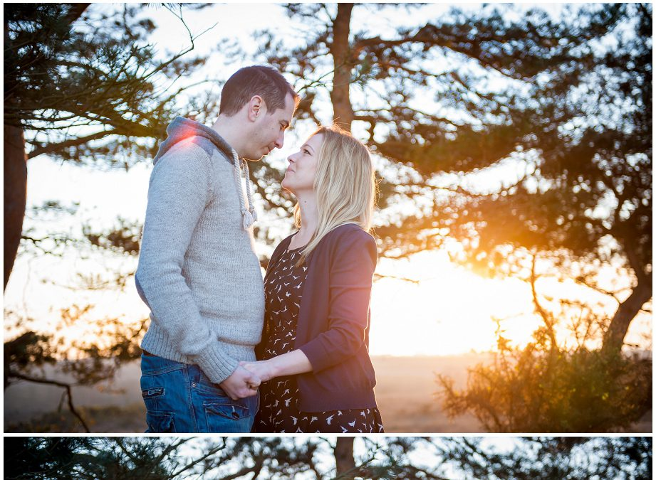 Paul & Hannah's New Forest sunset engagement shoot!