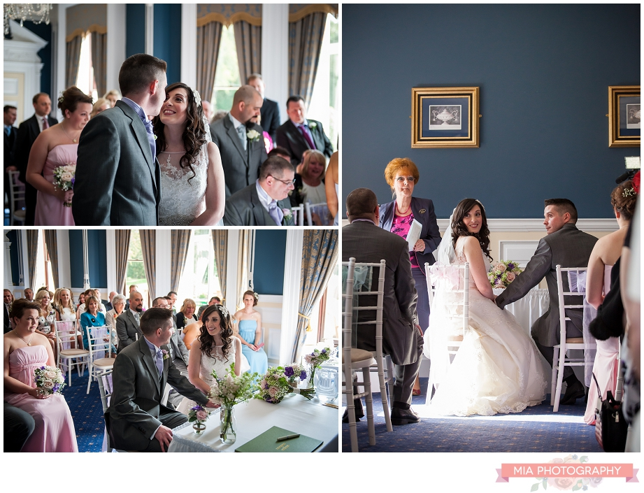 bride and groom saying their wedding vows in hampshire
