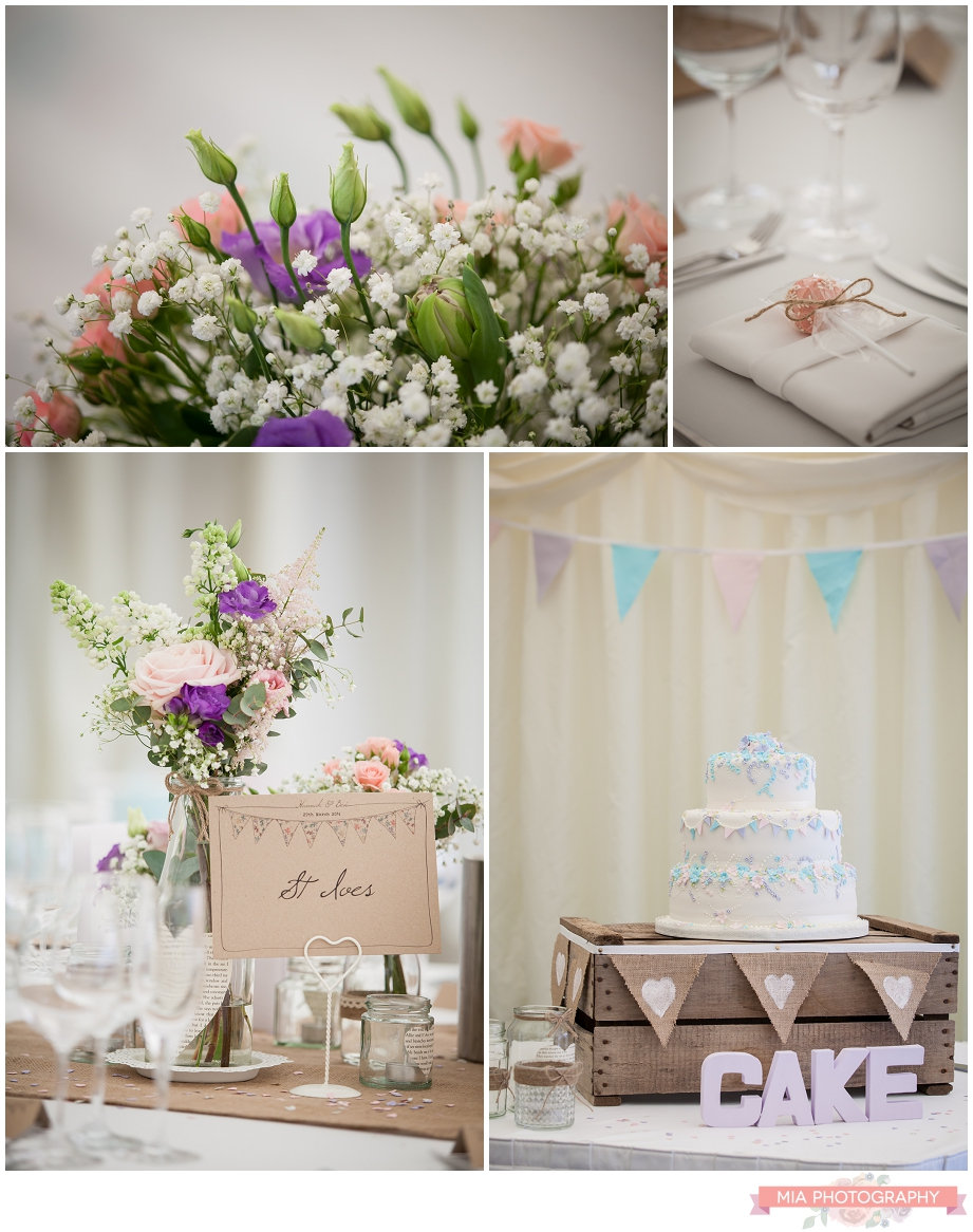 pink purple and turquoise wedding decor