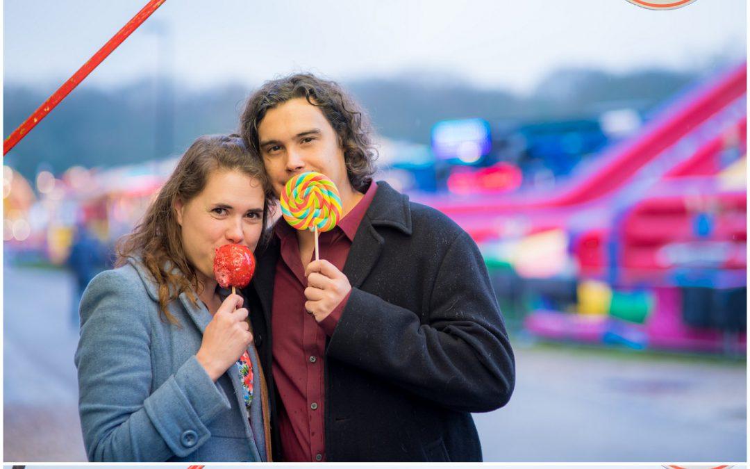 Sophie & Rich's Fairground Engagement Shoot in Southampton