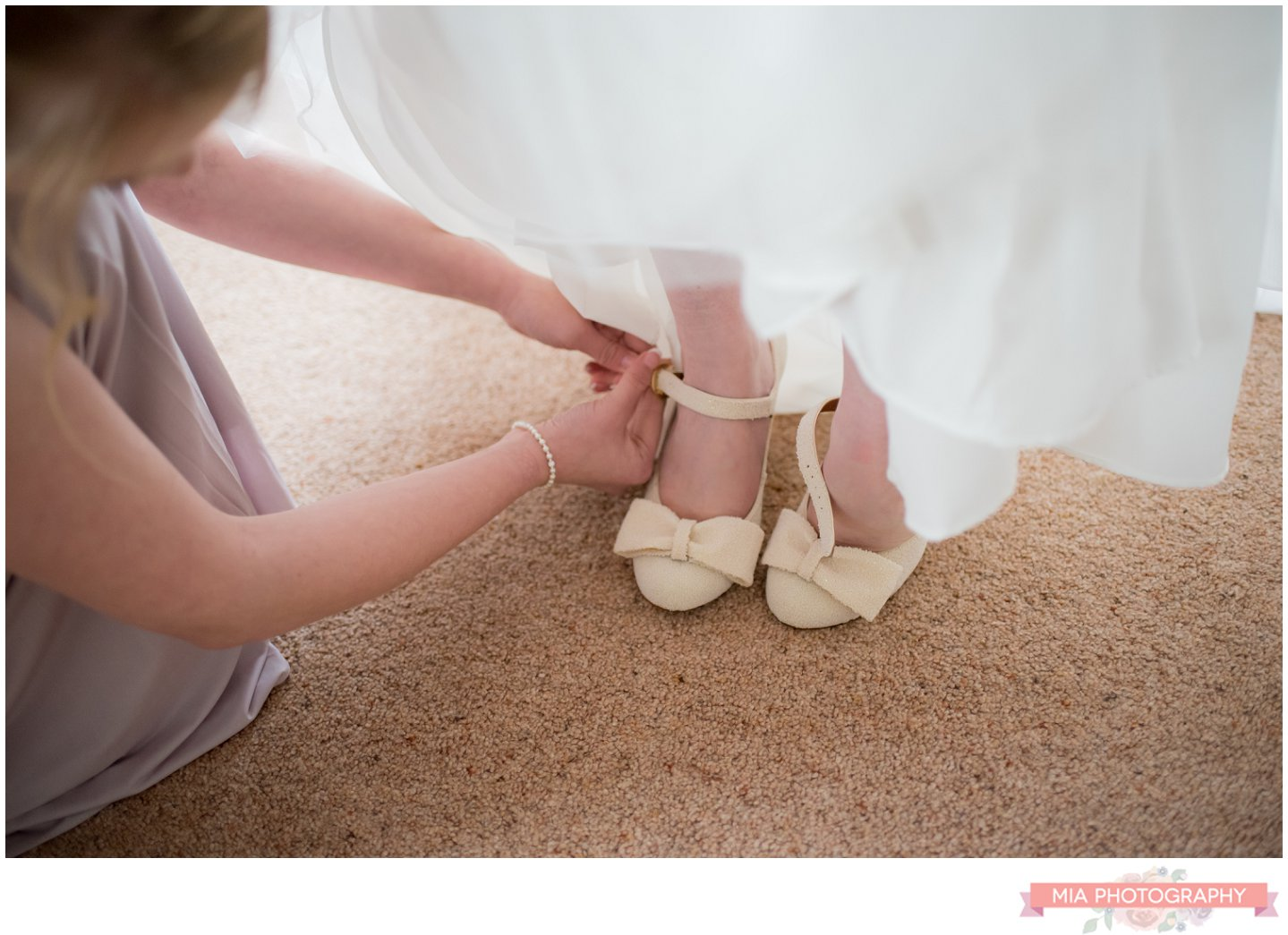 marquee wedding in hampshire - bride's shoes
