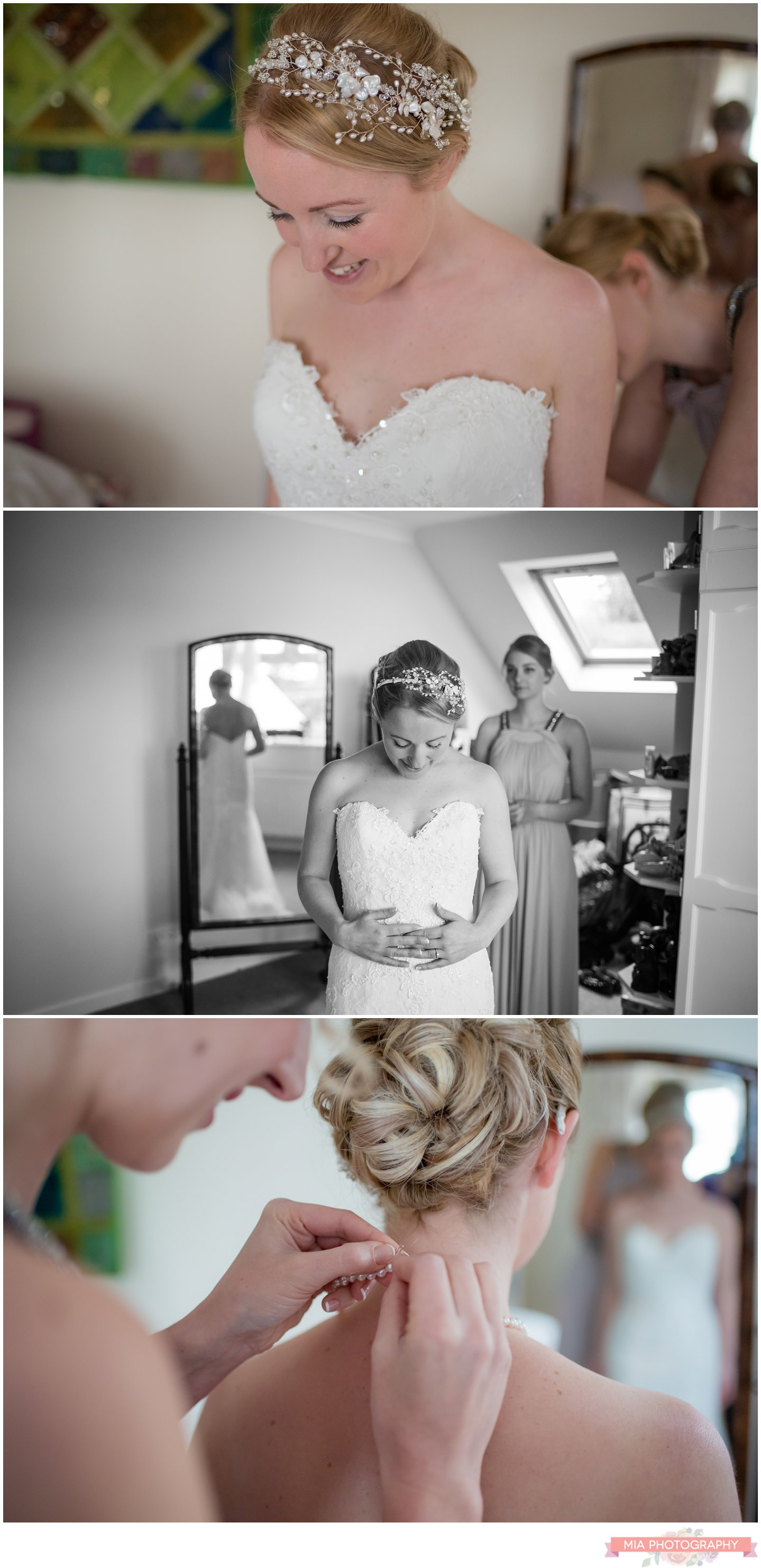 hampshire bride getting ready for her wedding