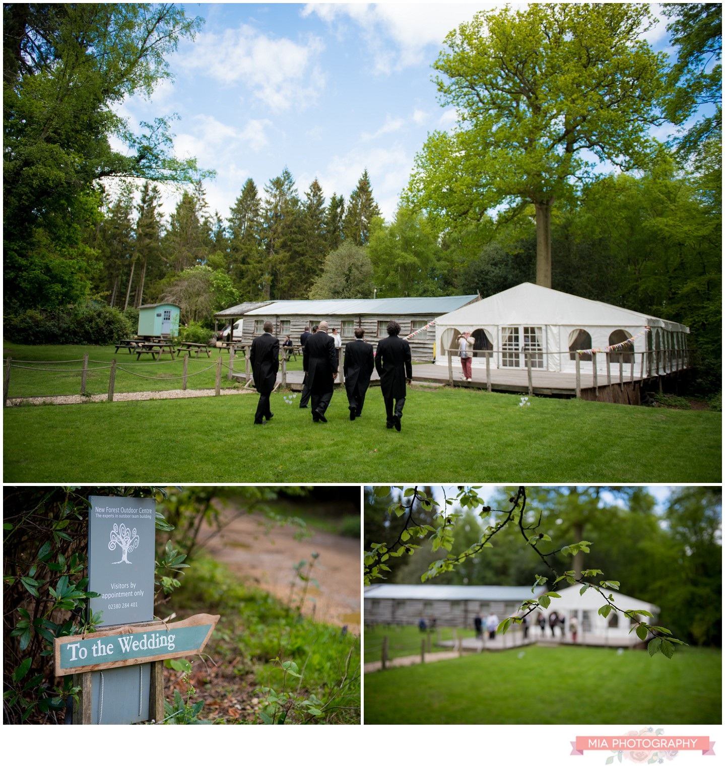 Wedding in the Wood, new forest