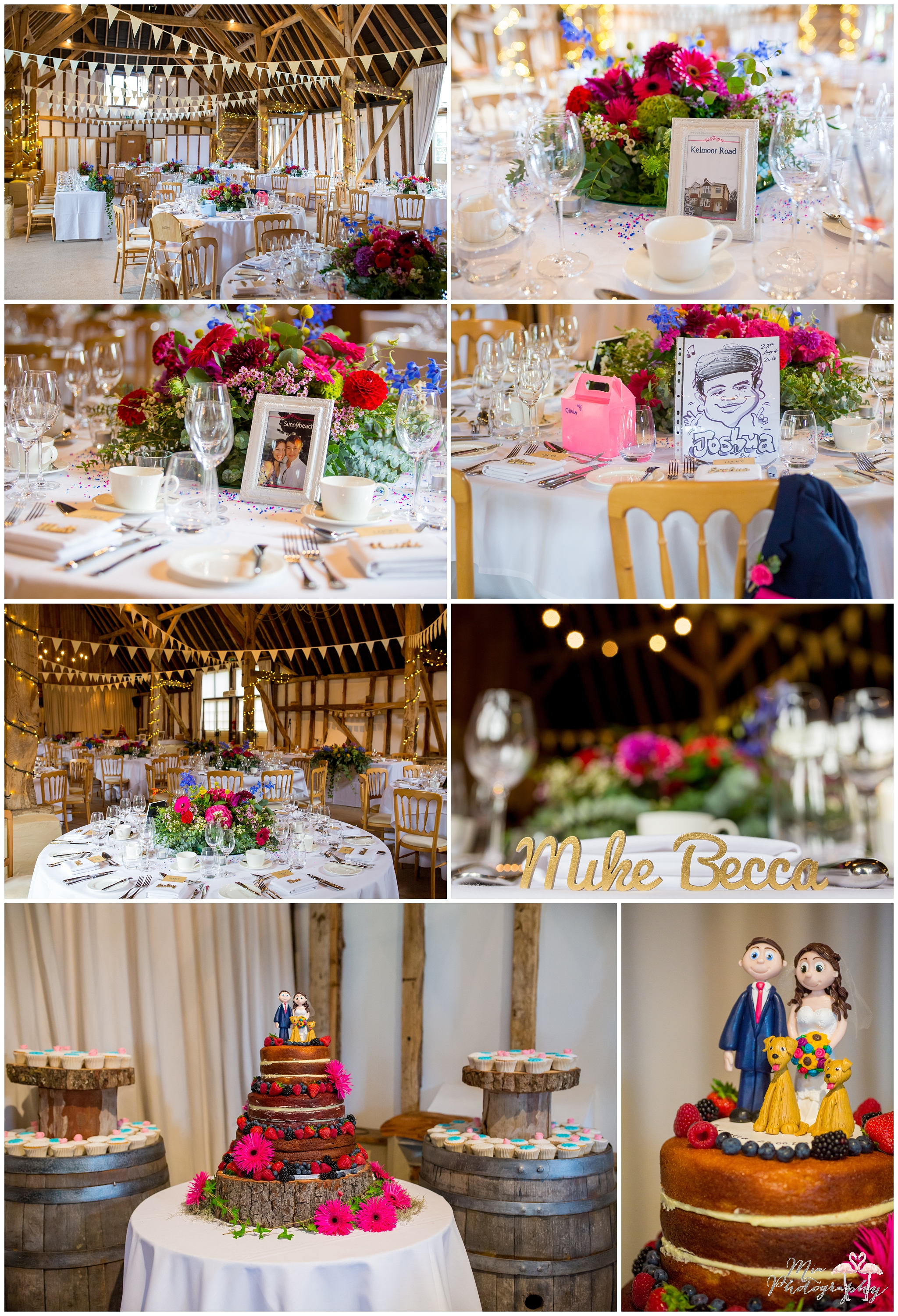 Table layouts and details at Clock Barn