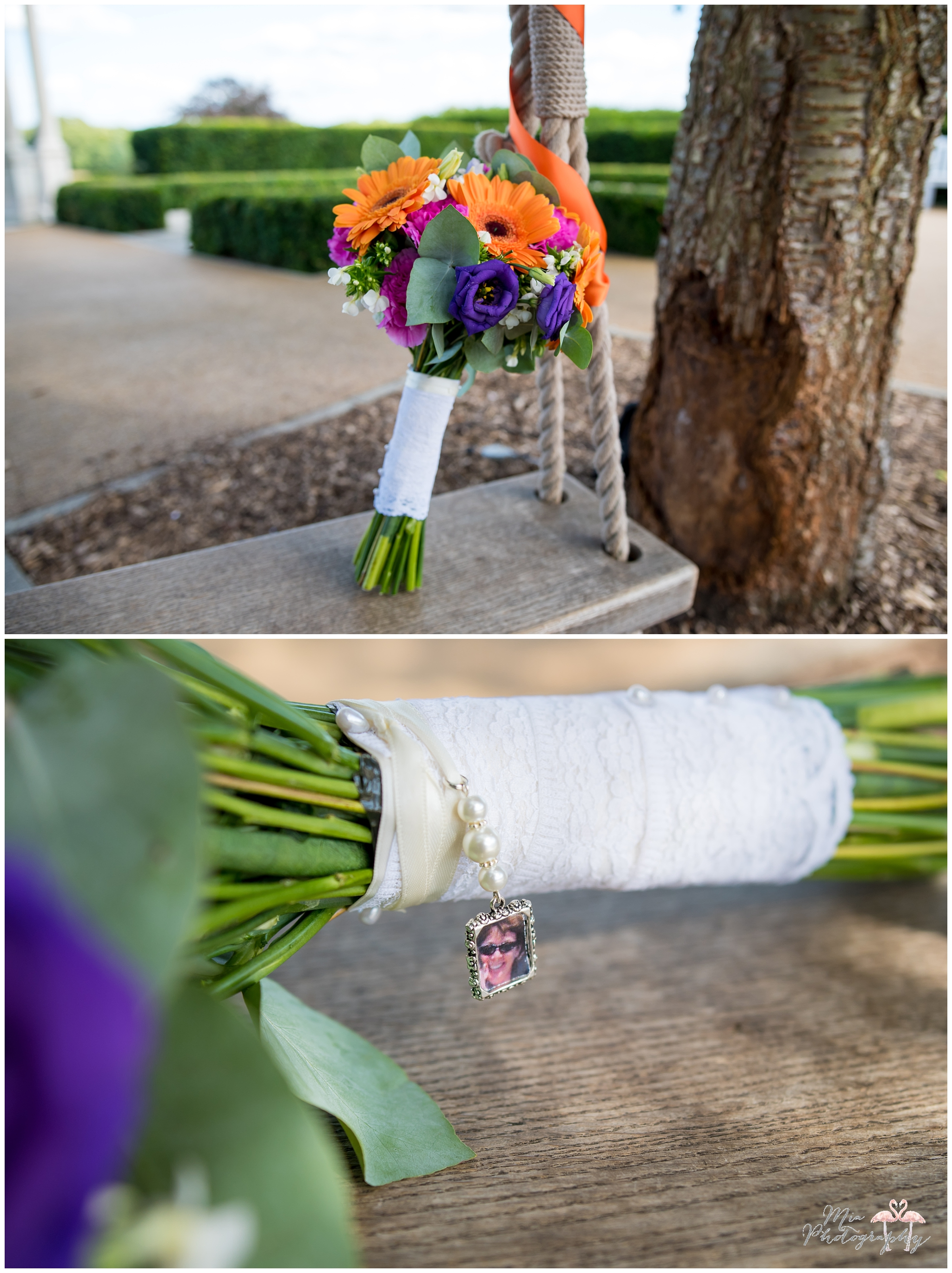 Bouquet with a special photo