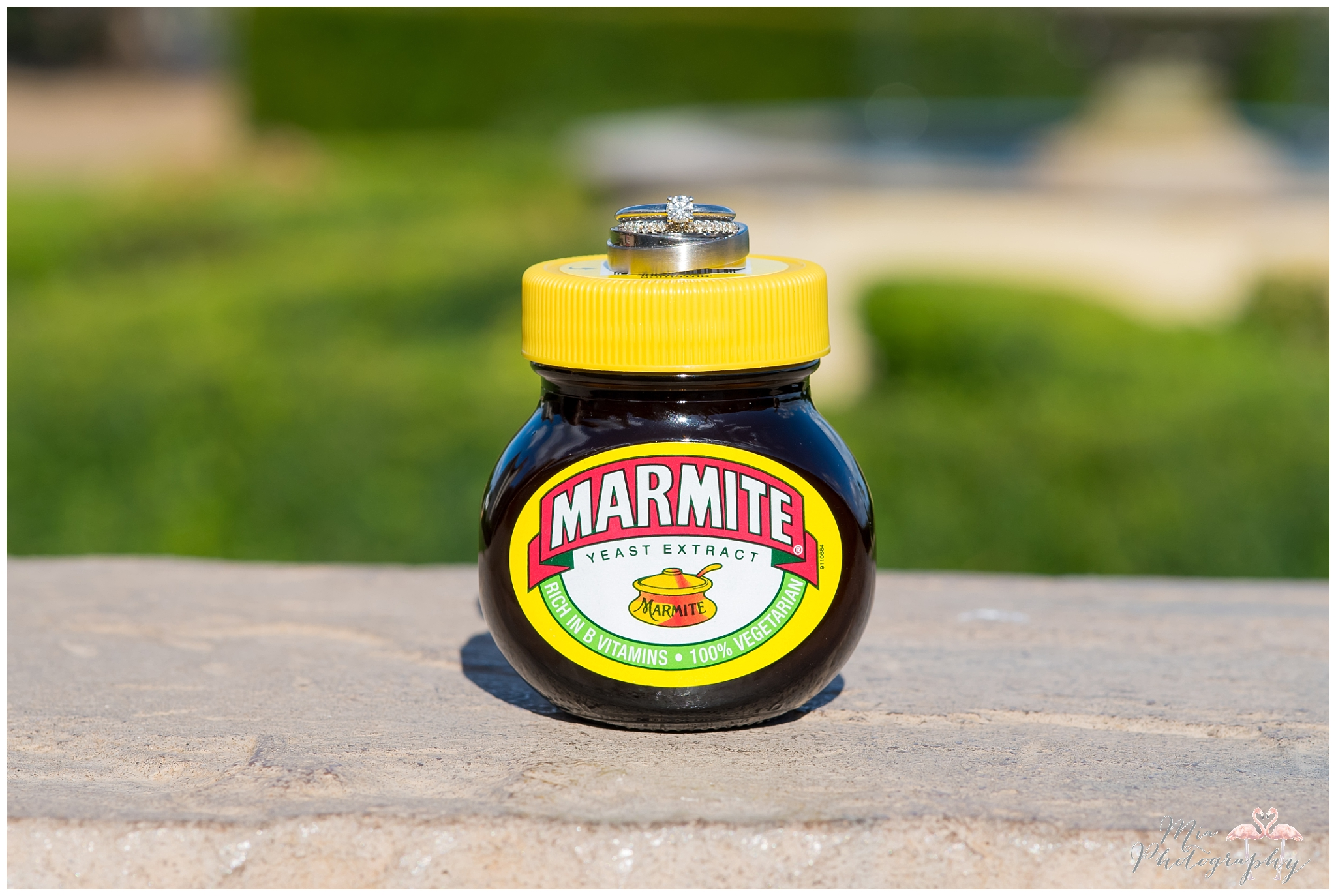 Marmite wedding rings