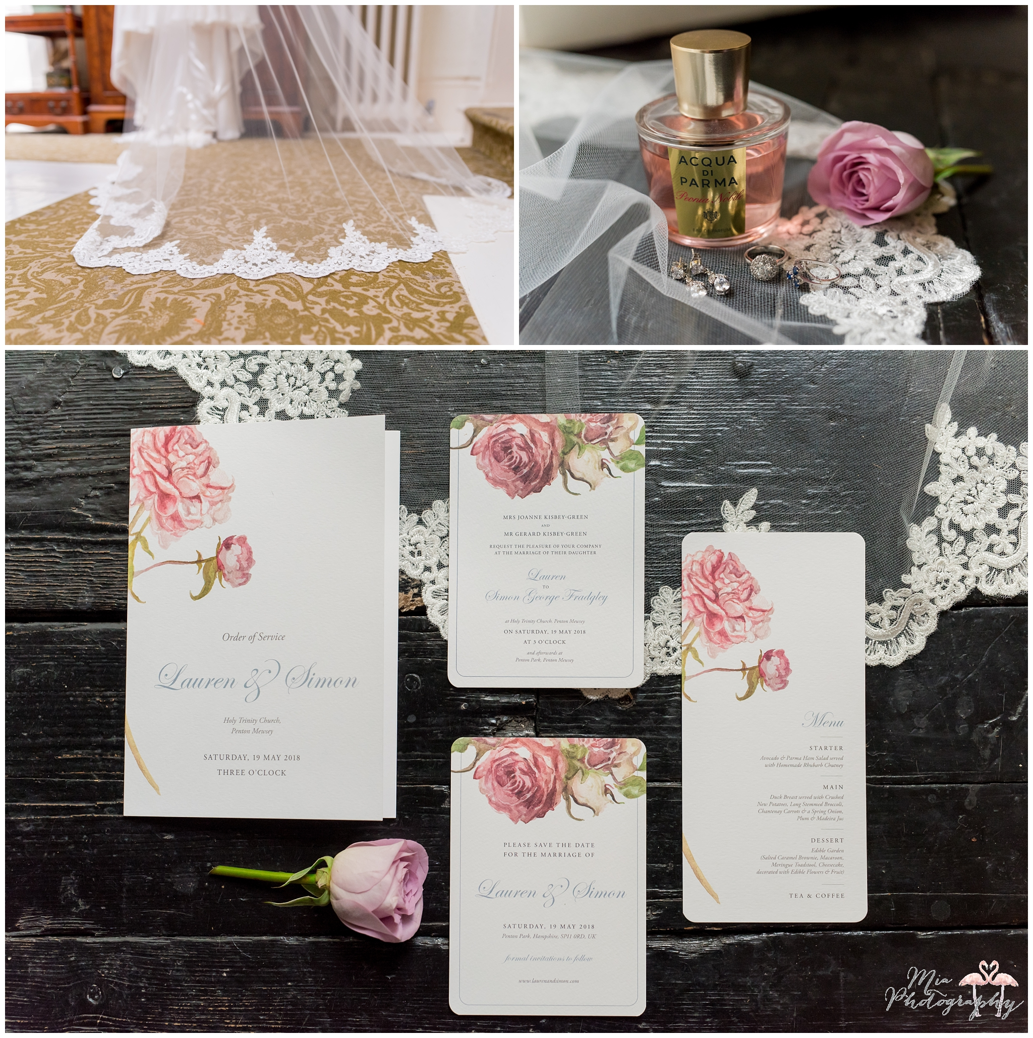 Wedding details at Penton Park