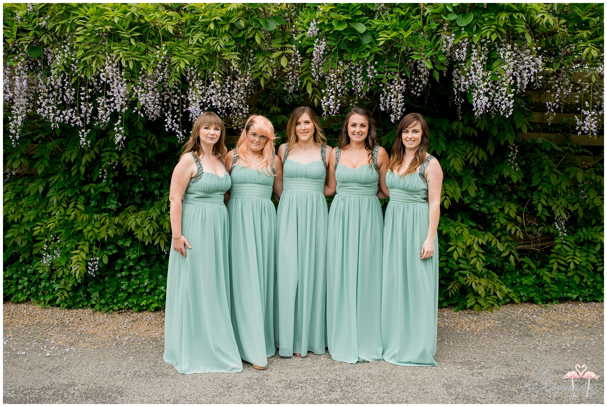 Bridesmaids at Clock Barn