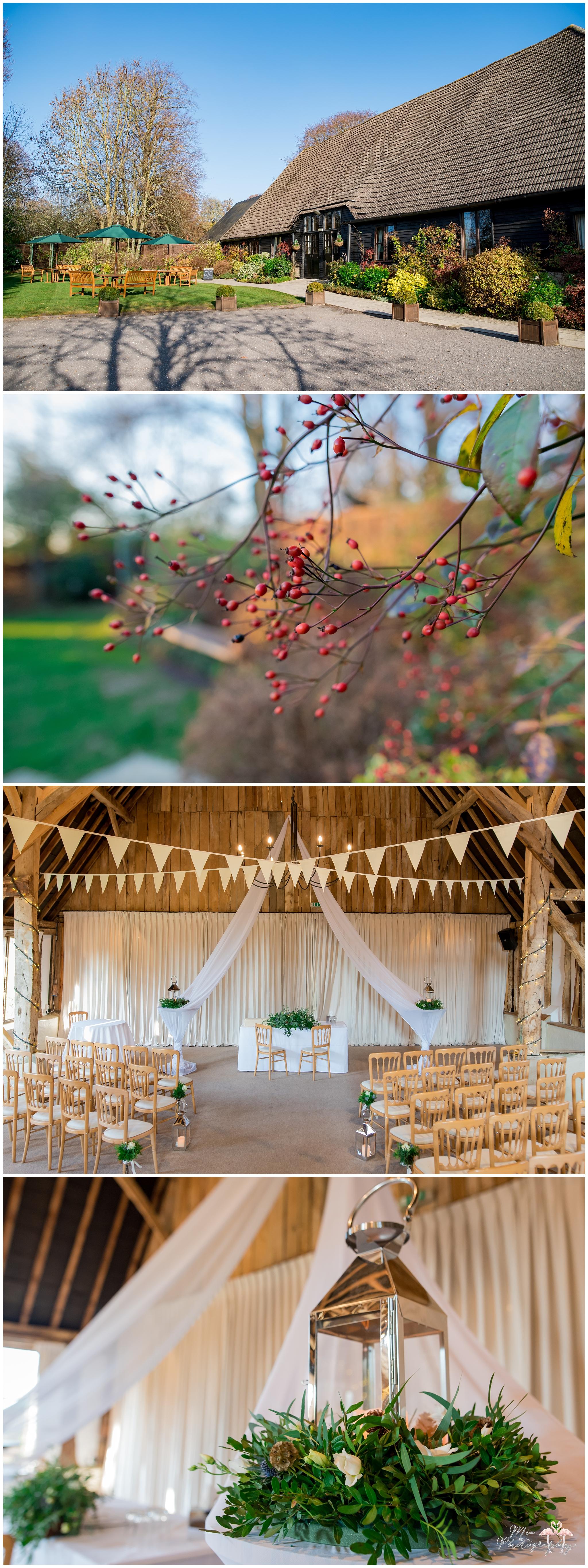 Winter wedding at clock barn