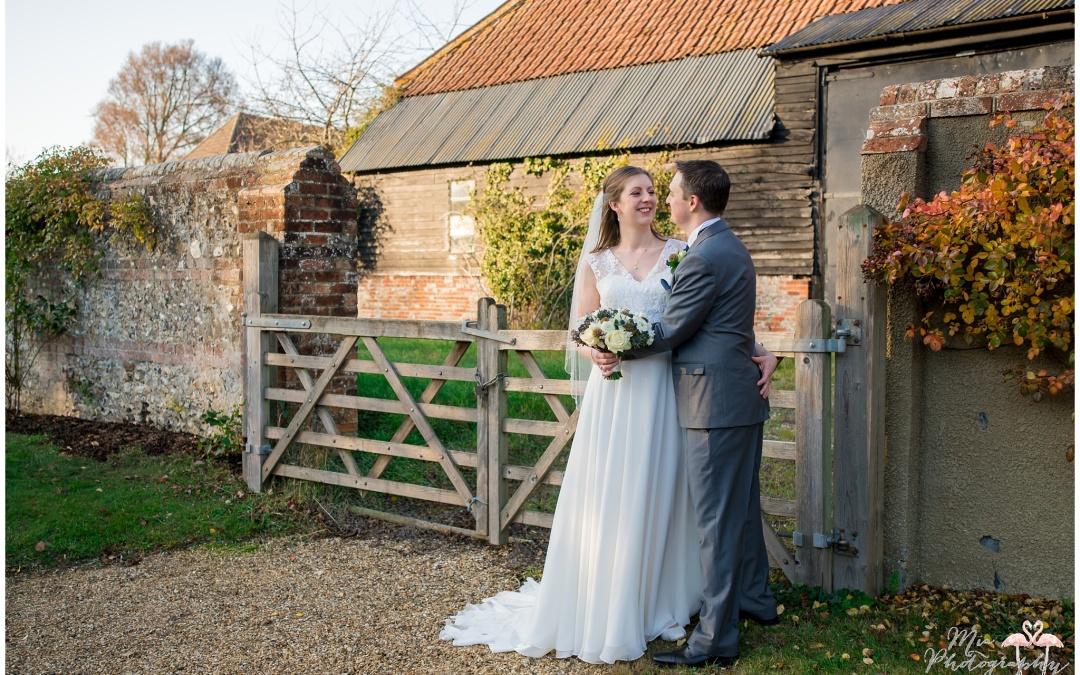 Winter wedding at Clock Barn – Wendy & Richard