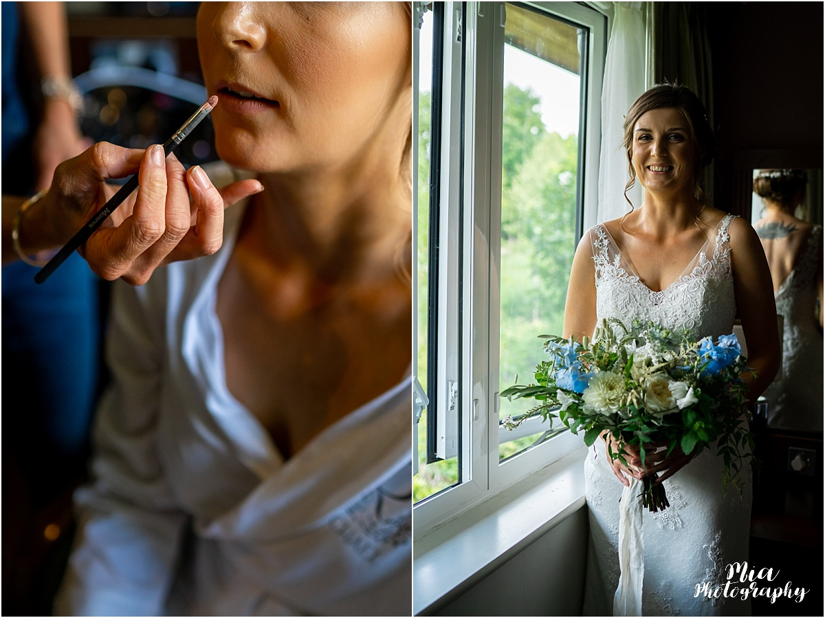 Bridal prep at Clock barn