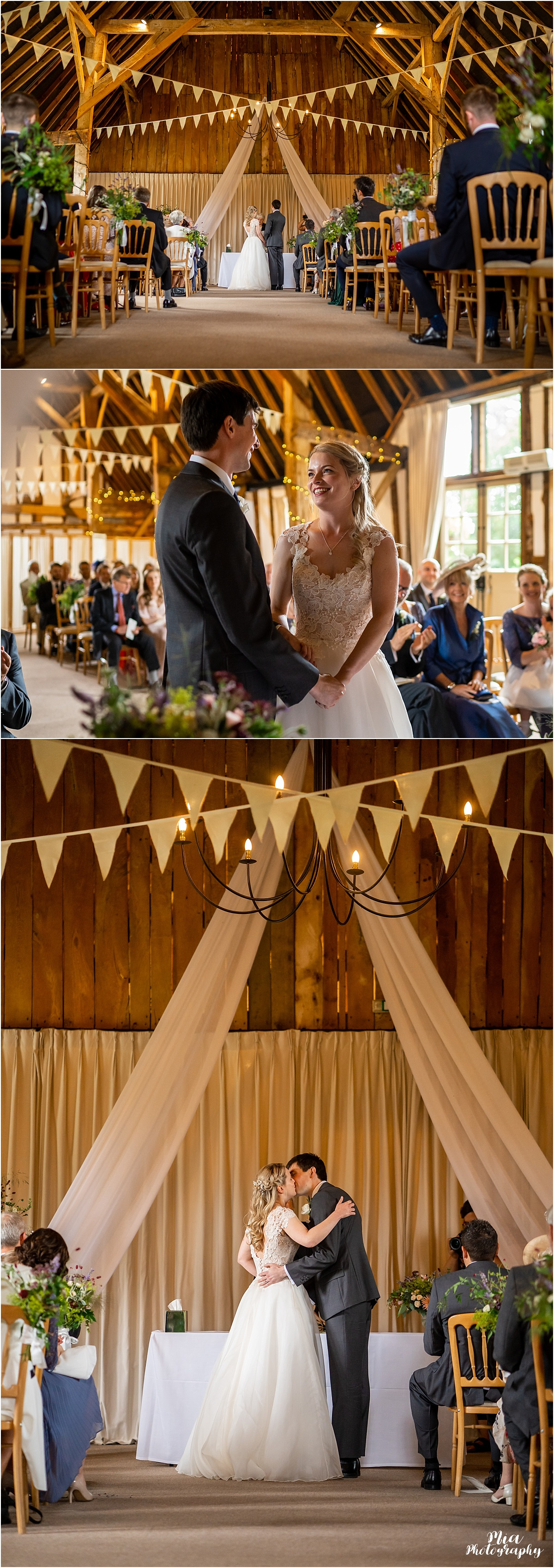 Clock barn wedding in Hampshire