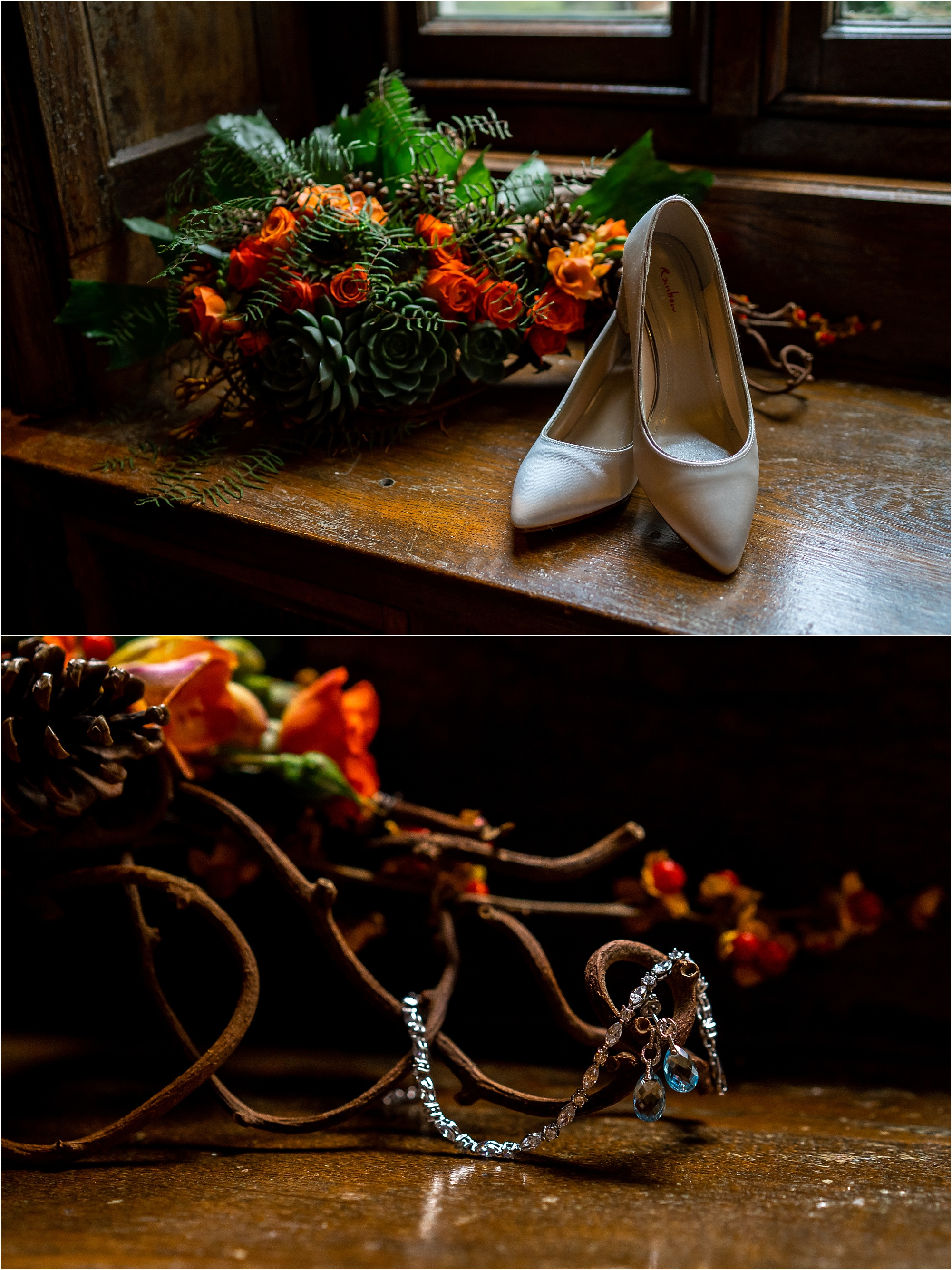Autumn Barn wedding at Clock Barn