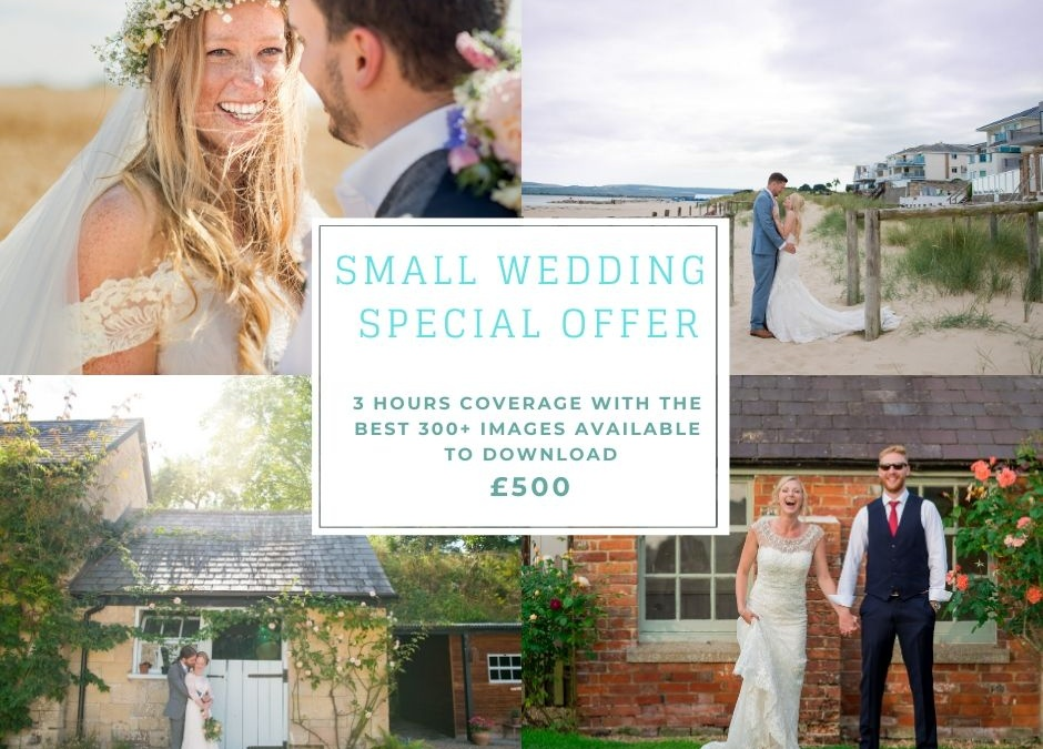 Small weddings due to COVID special offer!