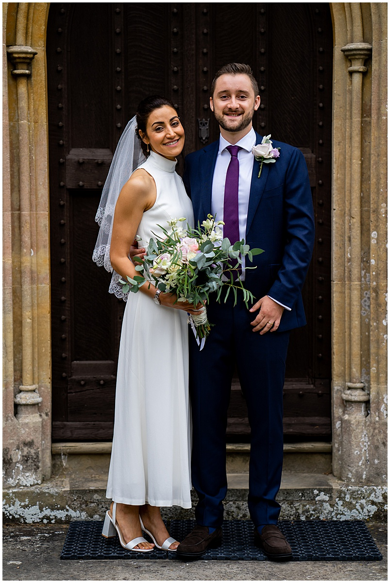 Intimate church wedding in Hampshire