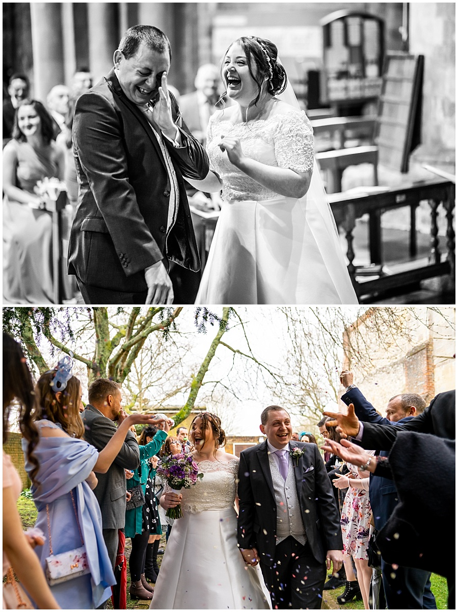 Wedding at Romsey Abbey