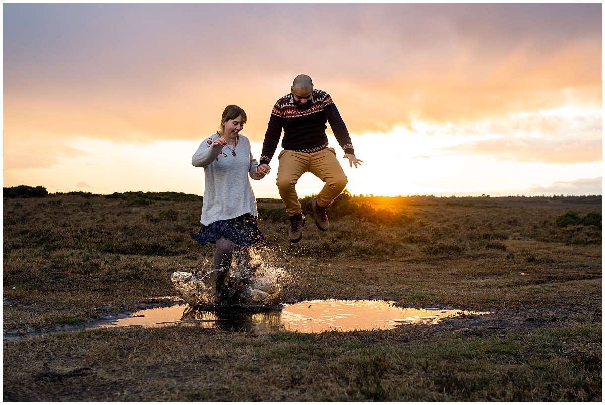New Forest puddle photo